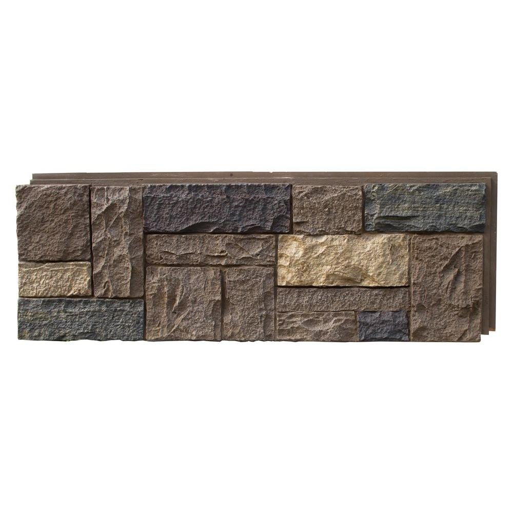Castle Rock Tuscan Brown 15.25 in. x 43.25 in. Faux Stone