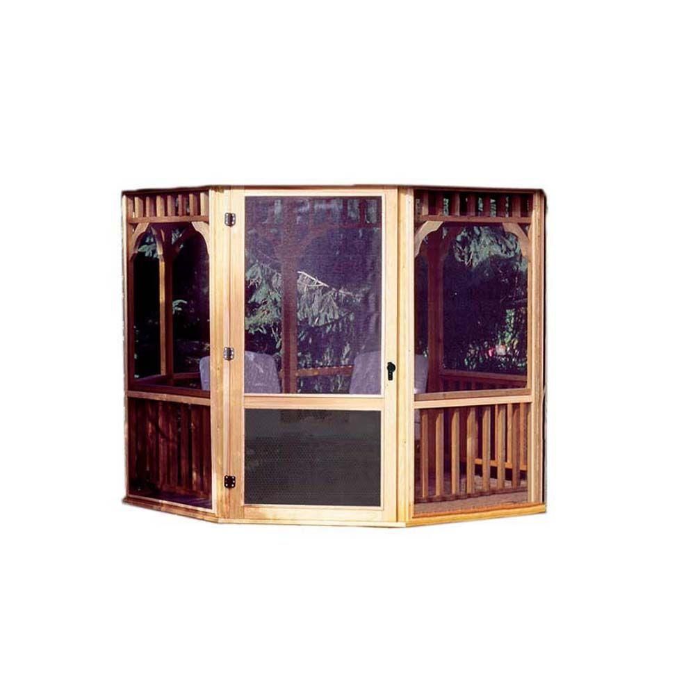 Monterey 12 ft. x 16 ft. Gazebo Screens with Door Kit, Br...