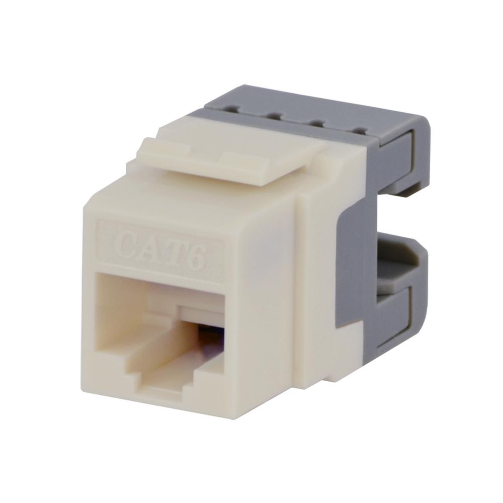 Commercial Electric Cat-6 Jack in White (25-Pack)
