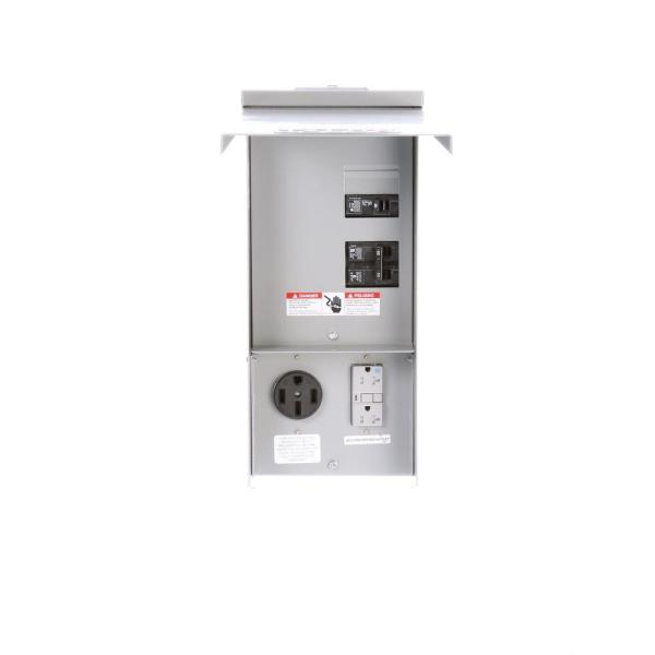 Temporary Power Outlet Panel 20 and 50 Amp Receptacles - Unmetered