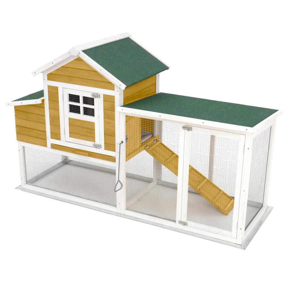 Animal House Large 74 in. Modular Chicken Coop Poultry and Hen House ...