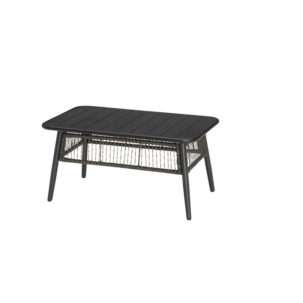 hamptonbay Hampton Bay Bayhurst Black Metal Outdoor Coffee Table