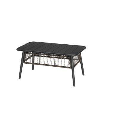 Bayhurst Black Metal Outdoor Coffee Table
