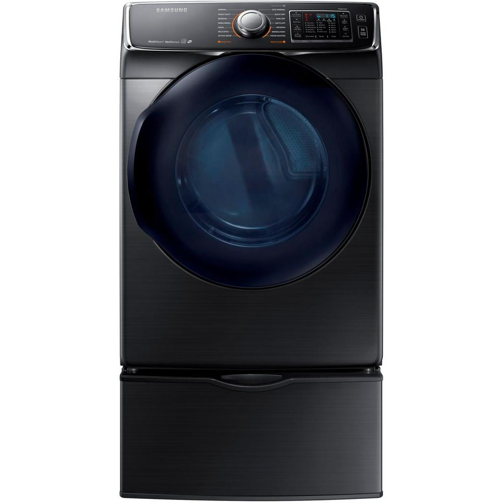 Samsung 7.5 cu. ft. Electric Dryer with Steam in Black St...