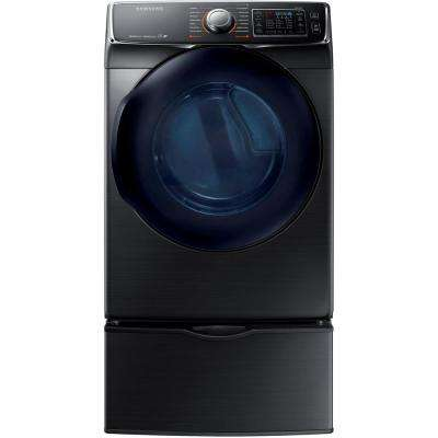 7.5 cu. ft. Electric Dryer with Steam in Black Stainless Steel, ENERGY STAR