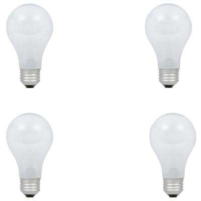 100-Watt Equivalent A19 Dimmable Eco-Incandescent Light Bulb, Soft White (4-Pack)