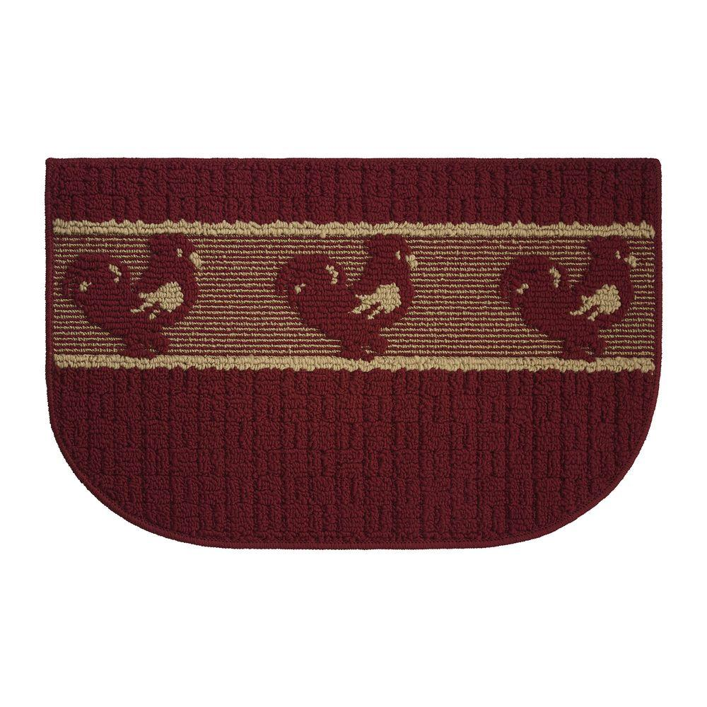 Creative Home Ideas Chicken Joy Textured Loop Burgundy