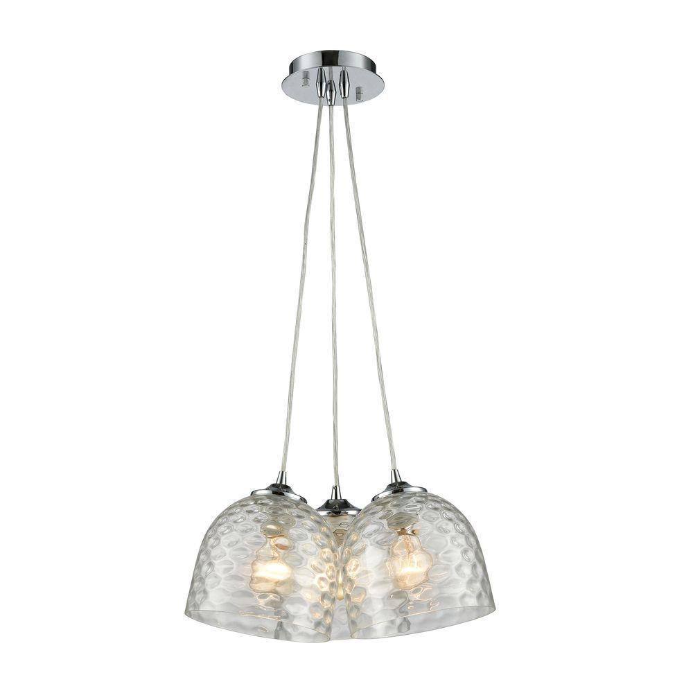 Titan Lighting Viva 3-Light Polished Chrome Pendant