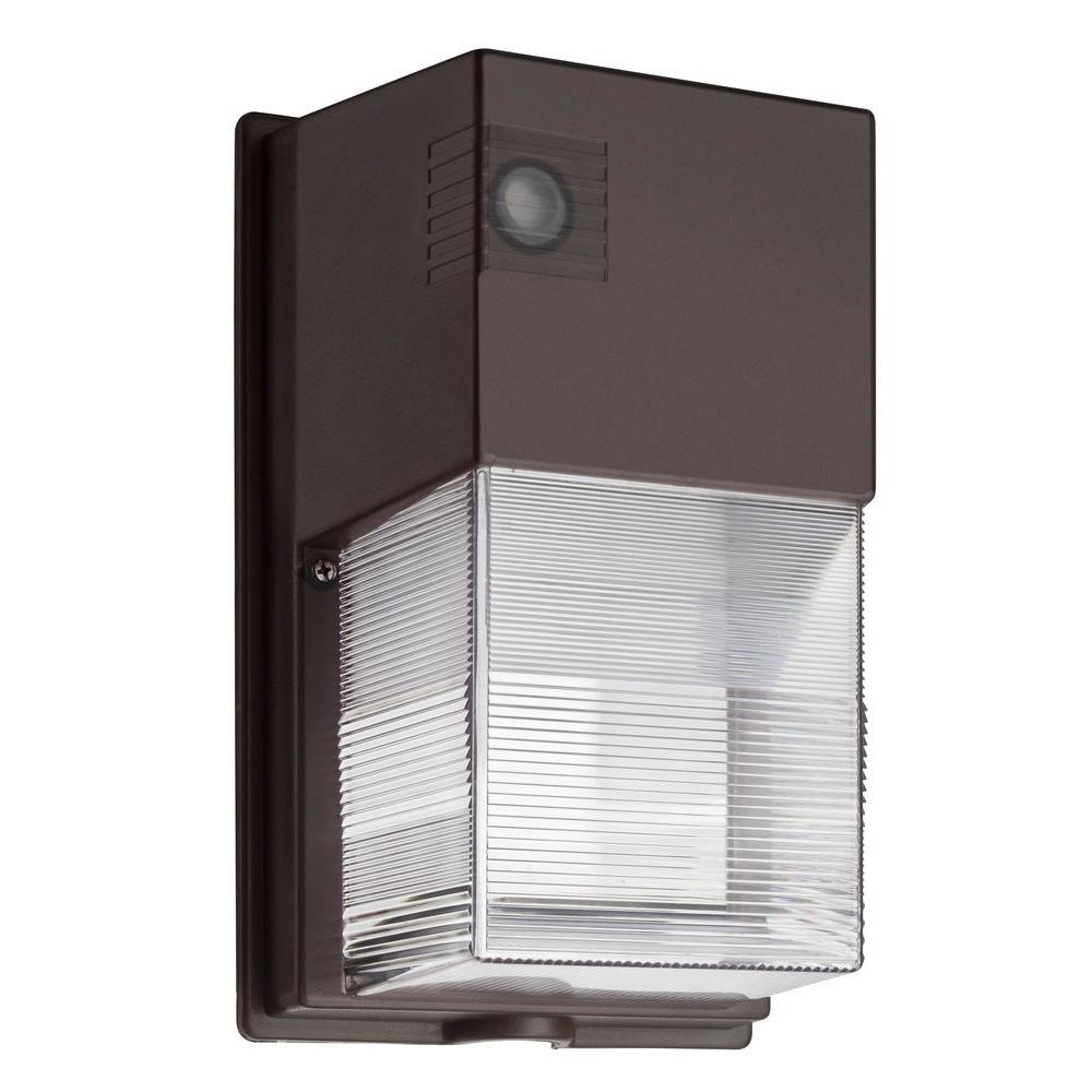 Lithonia Lighting Wall Mount Outdoor Metallic Fluorescent Area Light: Lithonia Lighting TWS 25-Watt Dark Bronze Outdoor