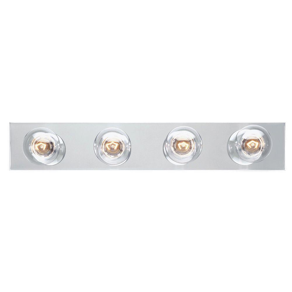 4-Light Chrome Interior Bath Bar Light