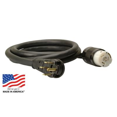 10 ft. 10/4 SEOOW 30-Amp Power Distribution Outdoor Heavy-Duty Generator Extension Cord
