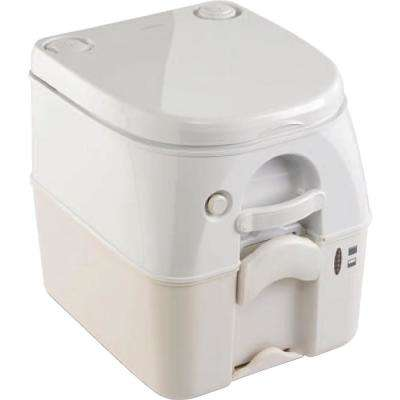 2.5 Gal. Full Size SaniPottie 962 Portable Toilet with Push Button Flush in Tan