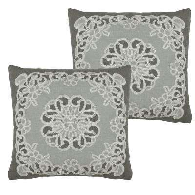 Emily Grey Polyester Slip Covers (Set of 2)
