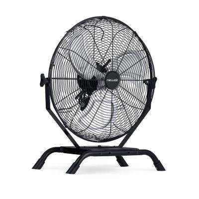 20 in. Outdoor Rated 2-In-1 High Velocity Floor or Wall Mounted Fan with 3-Fan Speeds and Adjustable Tilt Head in Black