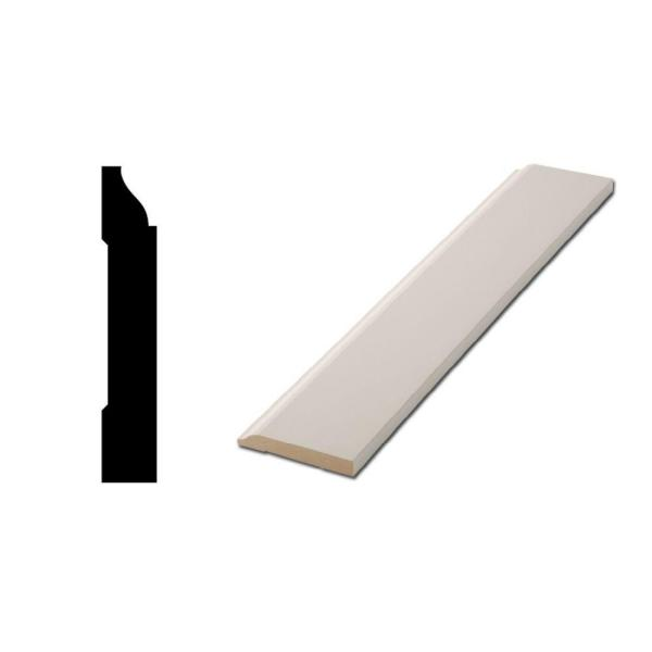 LWM 623 1/2 in. x 3-1/4 in. x 96 in. Primed MDF Base Moulding