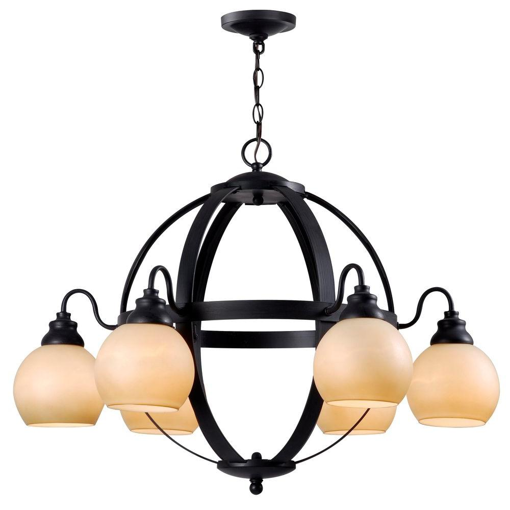 World Imports Magellen 6-Light Rust Globe Chandelier-WI527242 - The ...