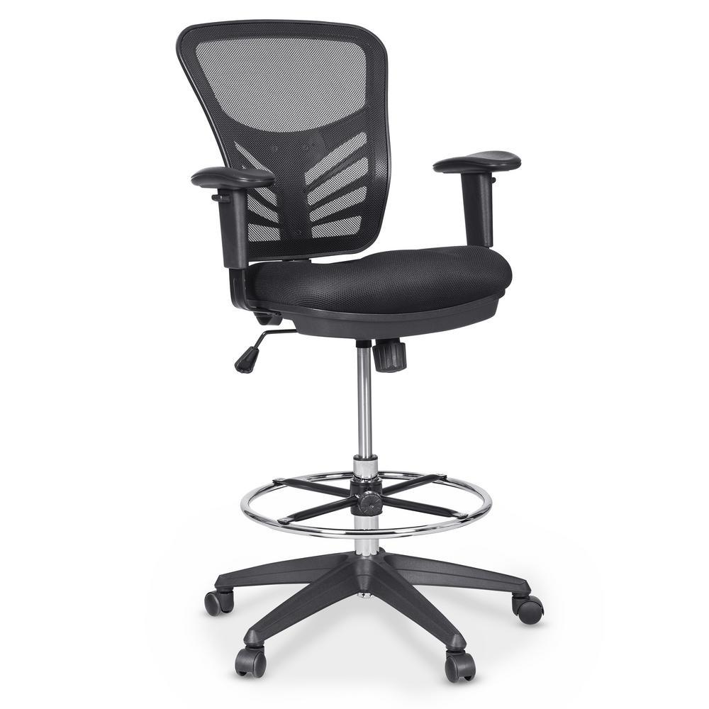 Brighton Black Drafting Chair