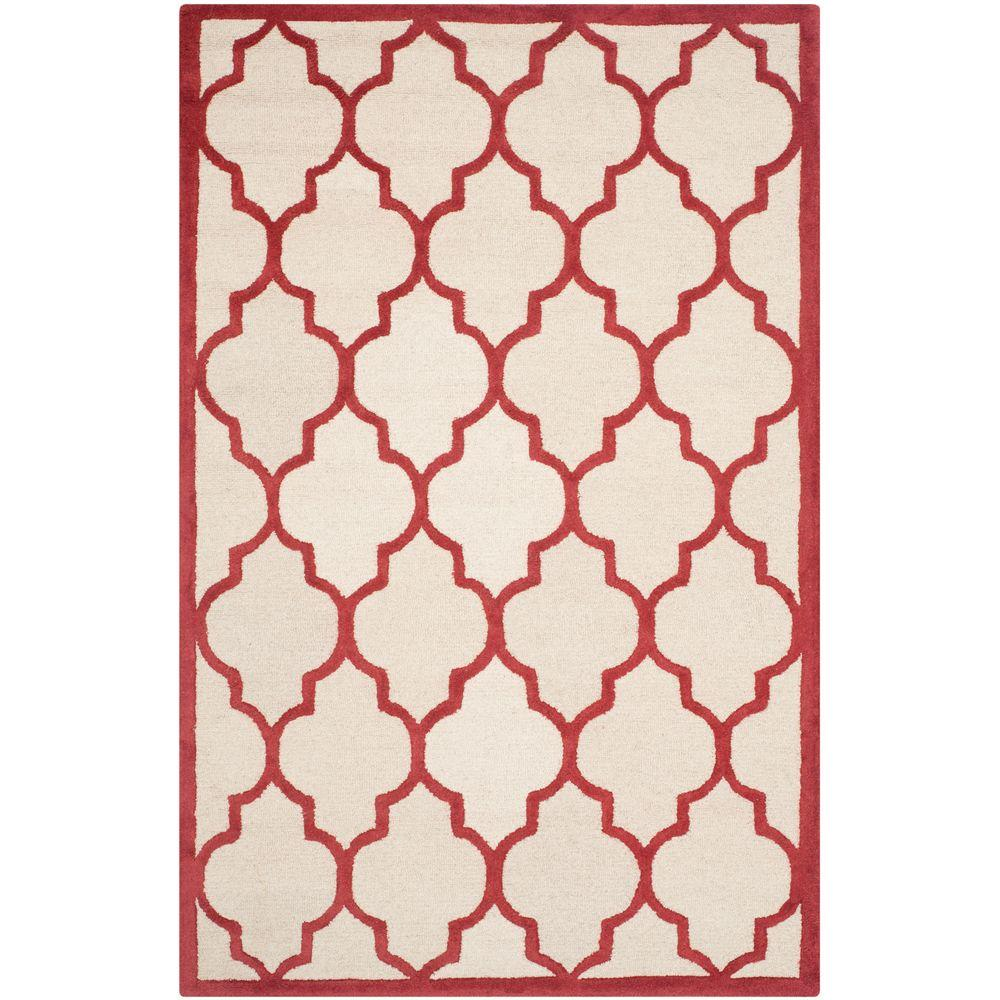 Cambridge Ivory/Rust 4 ft. x 6 ft. Area Rug