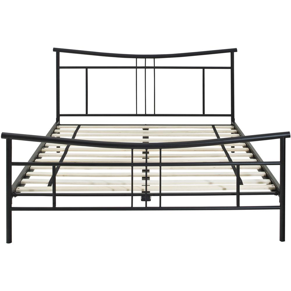 Chelsea Black Metal Full Platform Bed