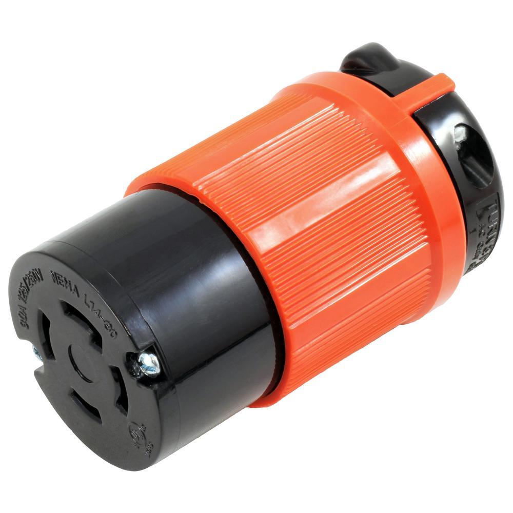 AC Connectors NEMA L14-30R 30 Amp 125/250-Volt 4-Prong Assembly Locking Female Connector