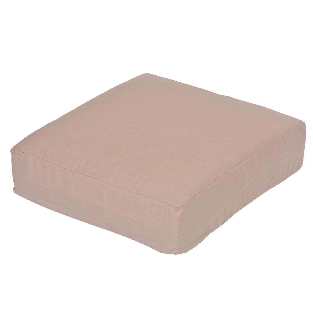 Oak Cliff Sunbrella Spectrum Sand Replacement Outdoor Ottoman Cushion