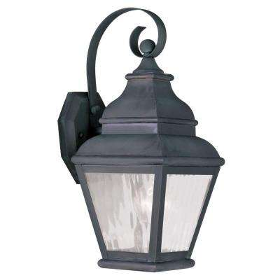 Providence Wall-Mount 1-Light Charcoal Outdoor Incandescent Lantern
