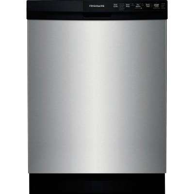 24 in. Built-In Front Control Tall Tub Dishwasher in Stainless Steel