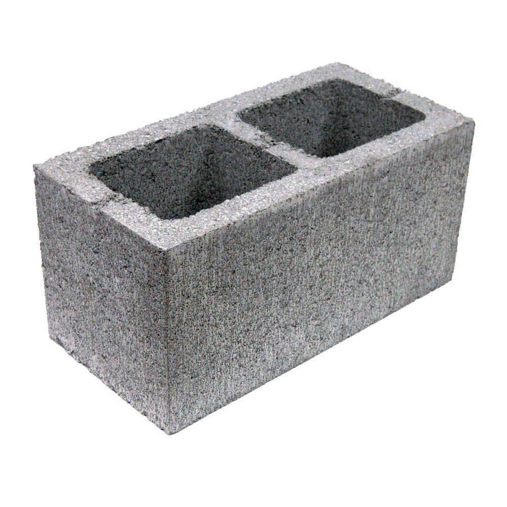 12 in. x 12 in. x 4 in. Gray Concrete Block-100002873 at The Home ...