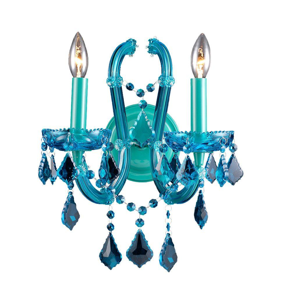 Avenue Lighting 2-Light Blue Wall Sconce