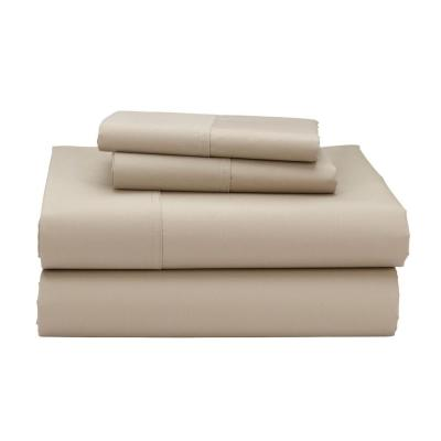 Wrinkle-Free 300-Thread Count Cotton Sateen Sheet Set