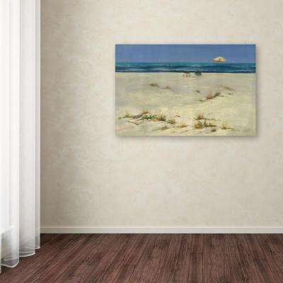 """30 in. x 47 in. """"Two Small Boats"""" by Rio Printed Canvas Wall Art"""