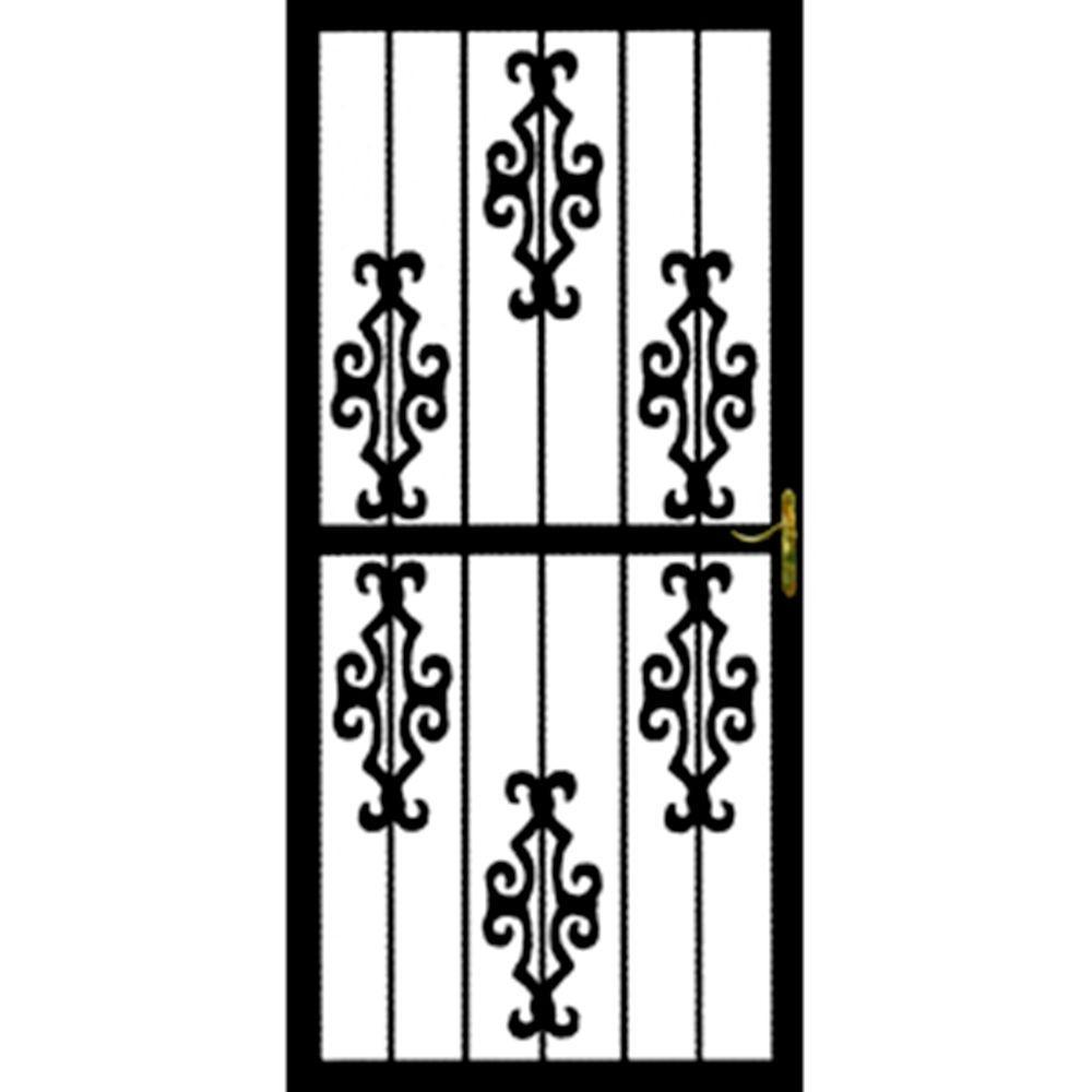 Grisham 32 in. x 80 in. 366 Series Black DeSoto Security Door
