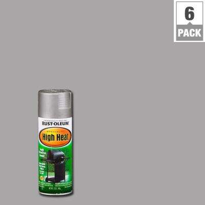 12 oz. Silver High Heat Spray Paint (6-Pack)