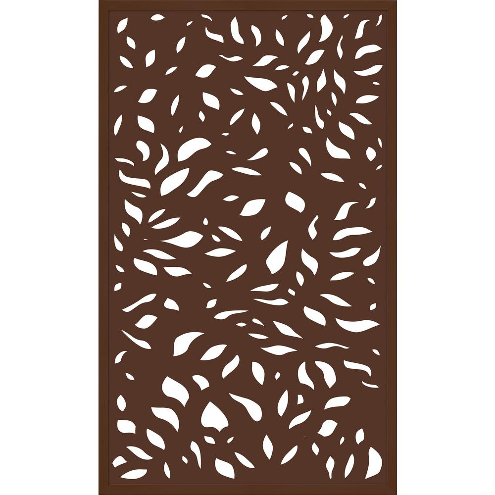 5 ft. x 3 ft. Framed Espresso Brown Decorative Composite Fence