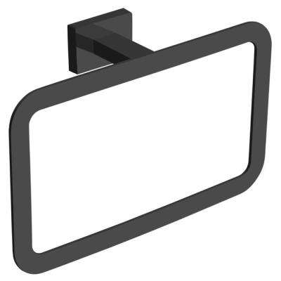 General Hotel Wall Mounted Towel Ring in Black