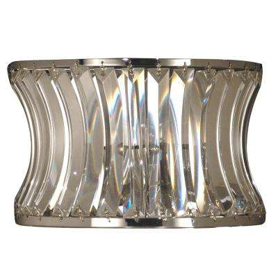 Oceanview Crystal 2-Light Polished Chrome Wall Sconce