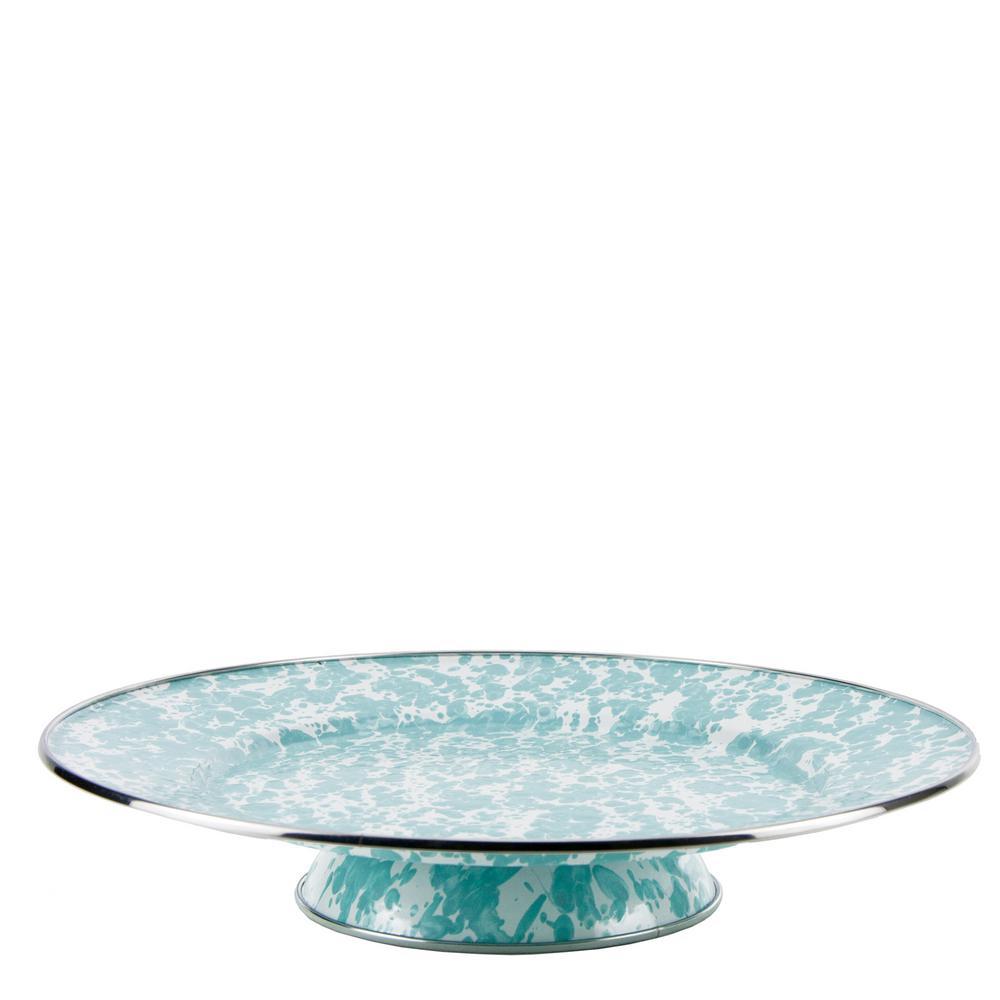 1-Tier Sea Glass Enamelware Cake Plate