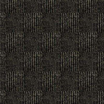 First Impressions City Block Mocha Texture 24 in. x 24 in. Carpet Tile (15 Tiles/Case)