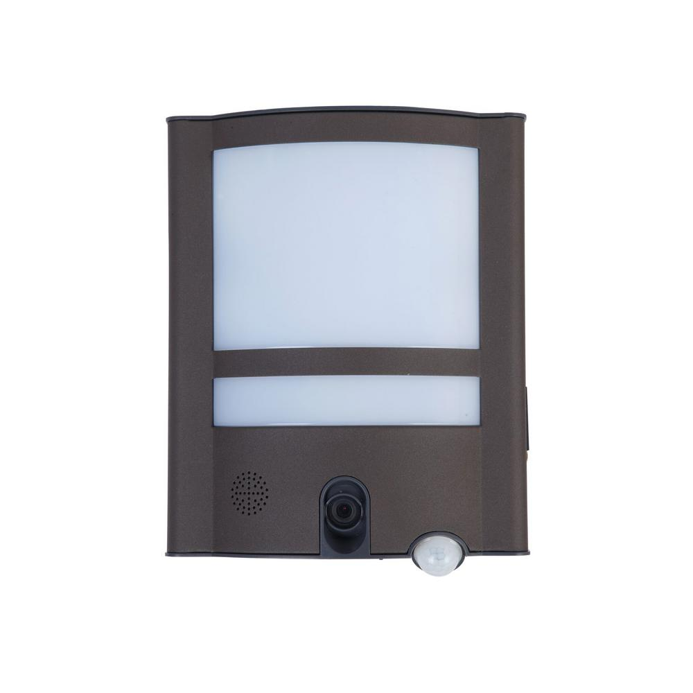 LUTEC 120-Degree 1 Head Gray Motion Activated Outdoor Integrated LED Flood Light