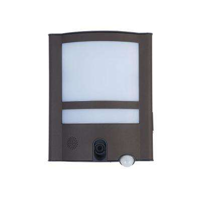 120-Degree 1 Head Gray Motion Activated Outdoor Integrated LED Flood Light
