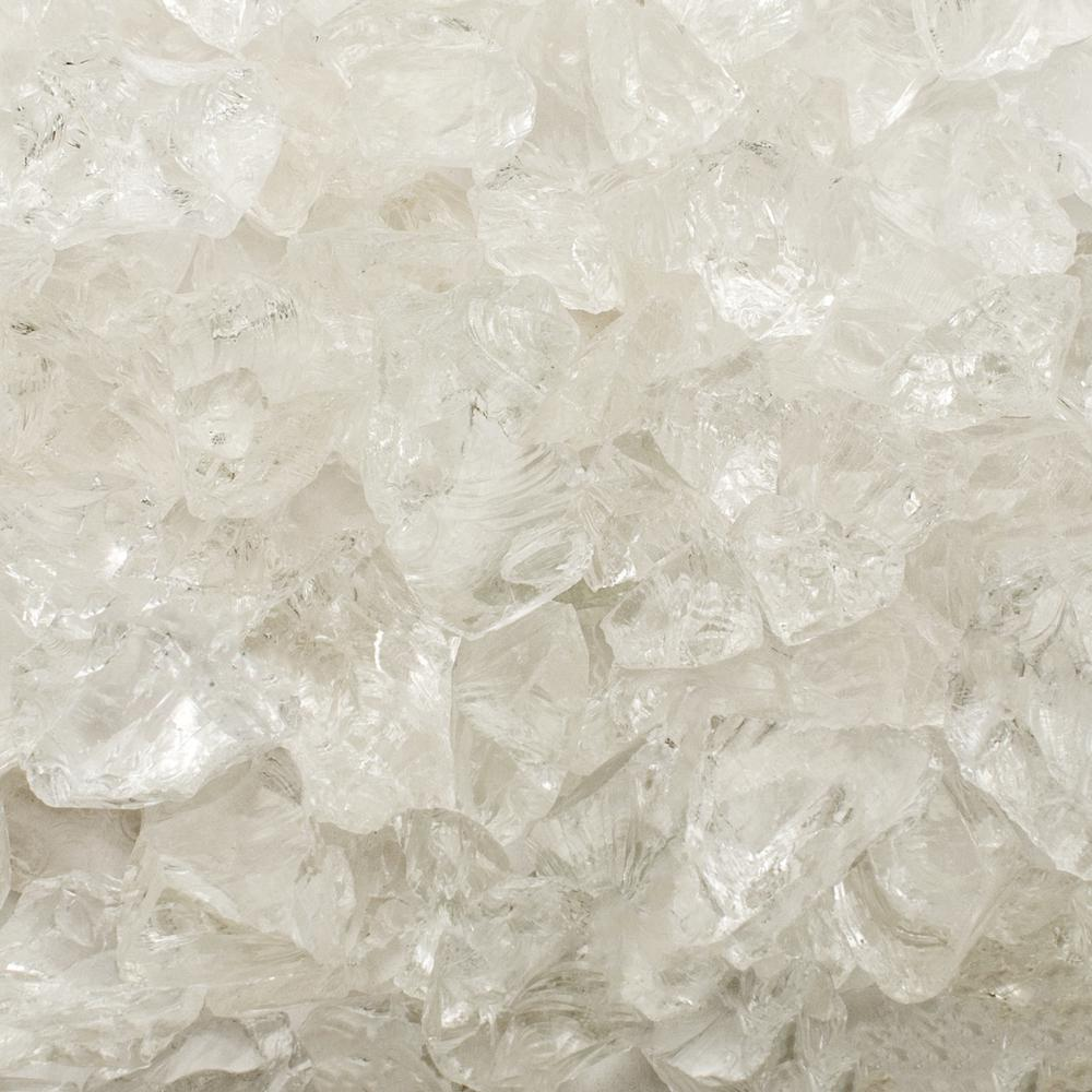 1/4 in. 10 lb. Ice Clear Landscape Fire Glass