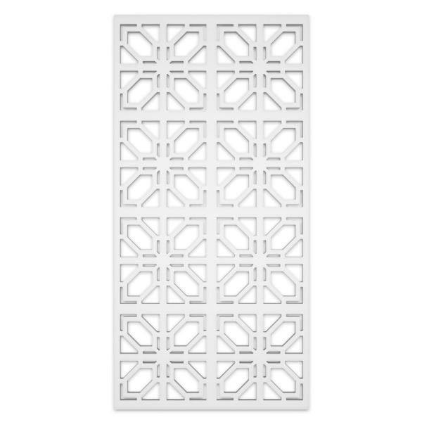 Deco 2 ft. x 4 ft. White Vinyl Decorative Screen Panel (Pack of 2)