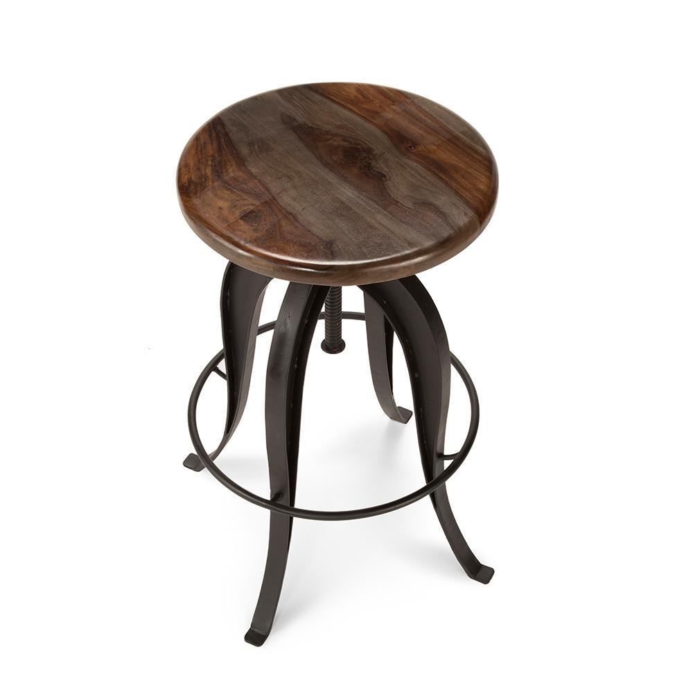 Peachy Sparrow Brown Round Bar Stool Ibusinesslaw Wood Chair Design Ideas Ibusinesslaworg