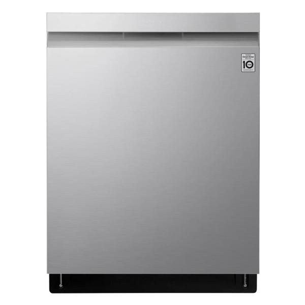 Top Control Smart Dishwasher in PrintProof Stainless Steel with QuadWash