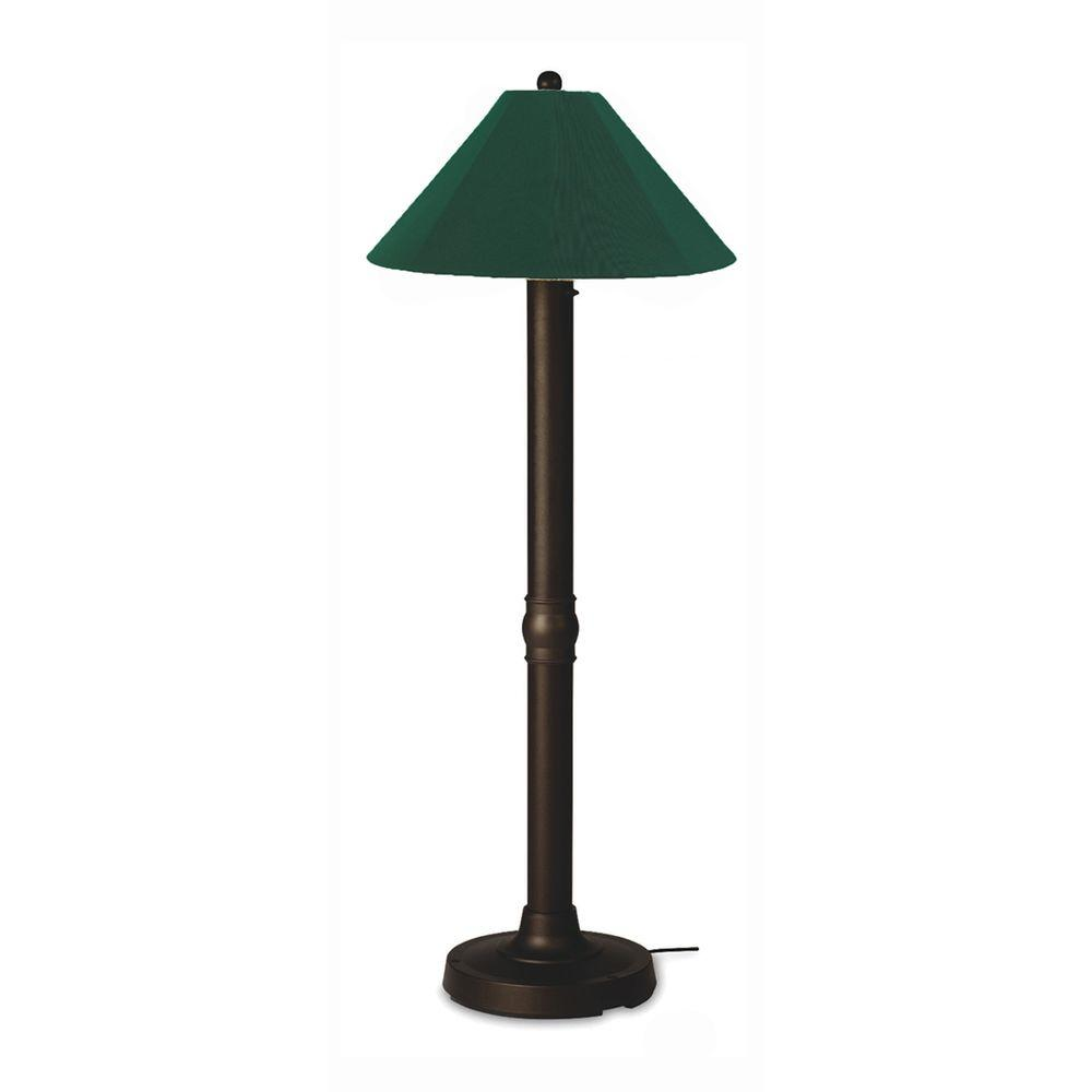 Patio Living Concepts Seaside 60 in. Outdoor Bronze Floor Lamp with Forest Green Shade-DISCONTINUED
