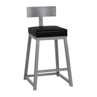 Tyson 26 in. Cantina Black Backless Bar Stool