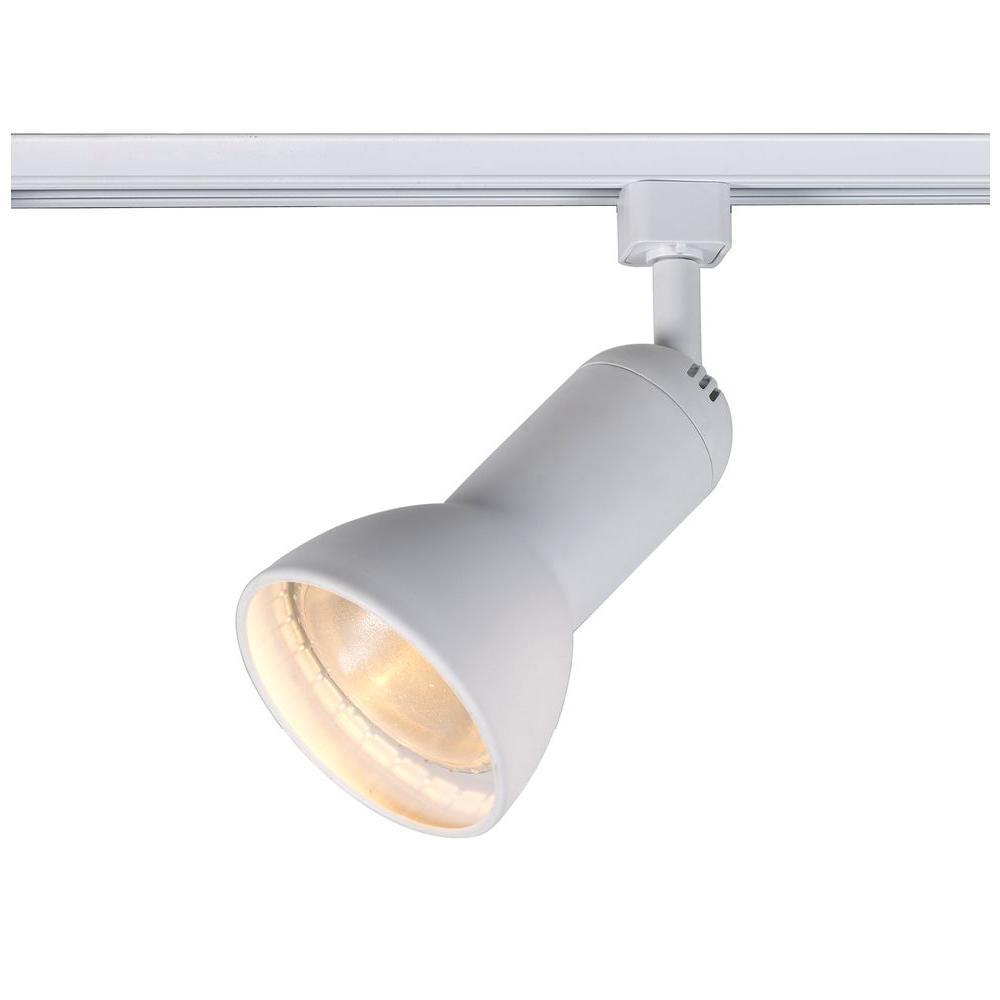 1-Light White R30/PAR30 Large Linear Track Lighting Step Head