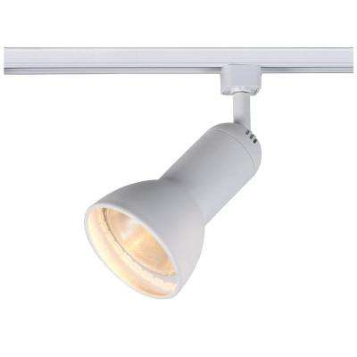 1-Light White R30/PAR30 Large Linear Track Lighting Step Head