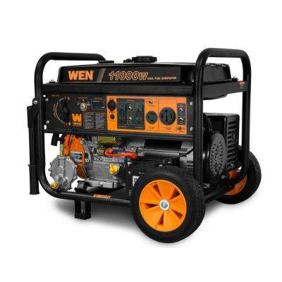 8,300-Watt 120V/240V Dual Fuel Gasoline and Propane Powered Electric Start Portable Generator with Wheel Kit