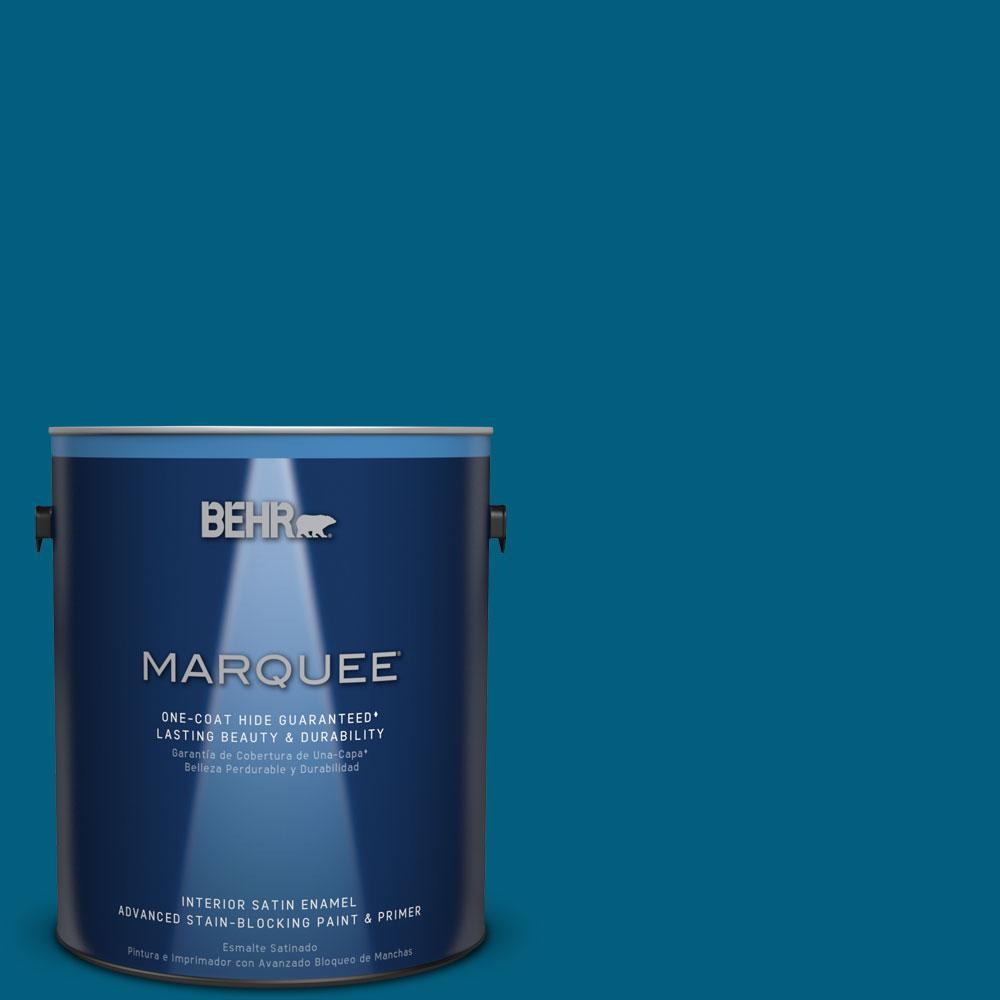 1 gal. #MQ5-62 Blue Edge One-Coat Hide Satin Enamel Interior Paint